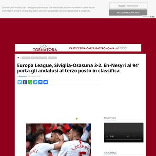 Europa League, Siviglia-Osasuna 3-2. En-Nesyri al 94' porta gli andalusi al terzo posto in classifica - Pagine Romaniste
