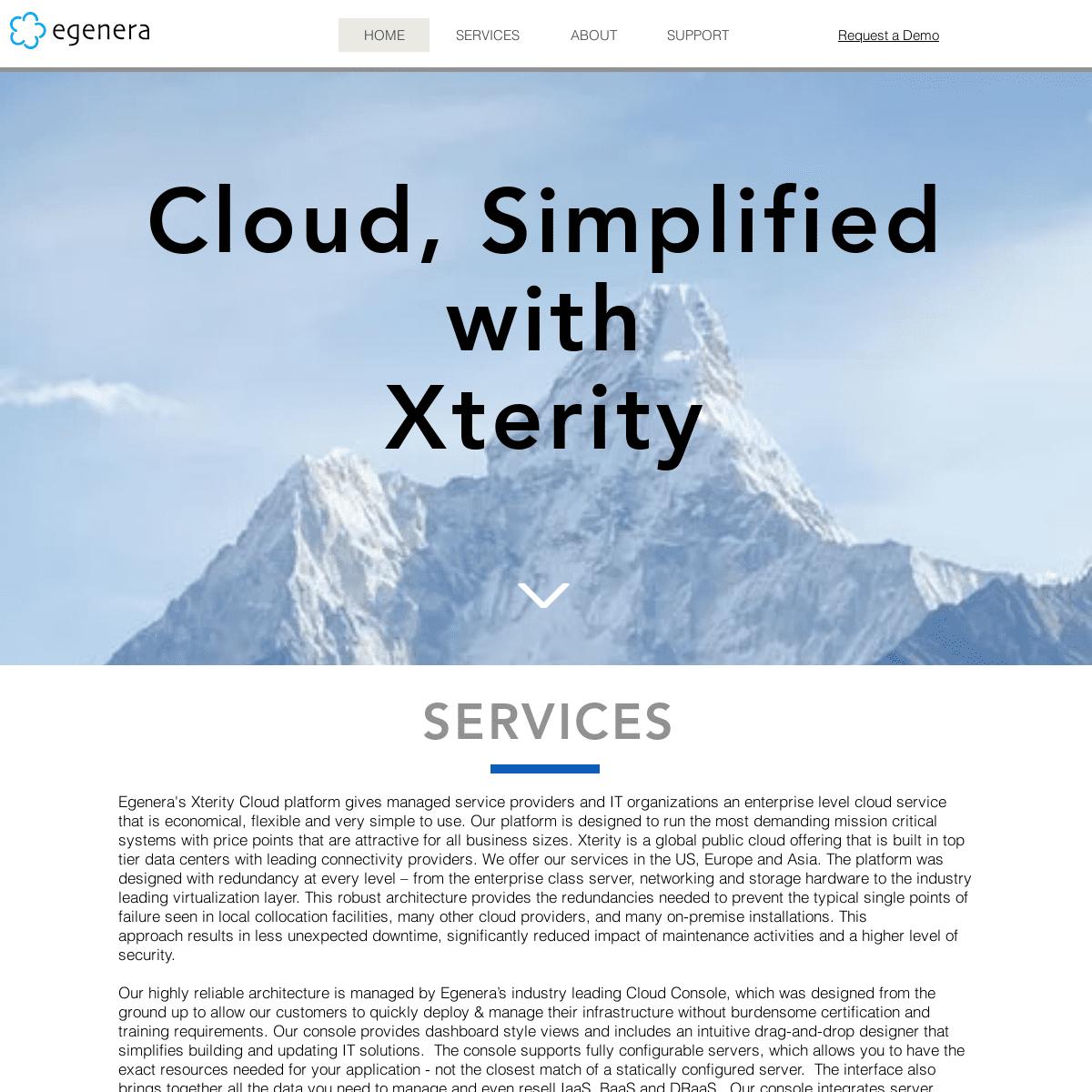 Cloud IaaS Provider simpler than AWS and Azure - Egenera Xterity Cloud