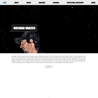 offical page of Brendan Brazier, Vega cofounder