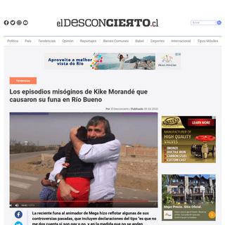 Los episodios misóginos de Kike Morandé que causaron su funa en Río Bueno - El Desconcierto