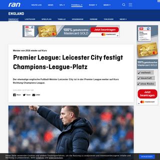Premier League- Leicester City festigt Champions-League-Platz