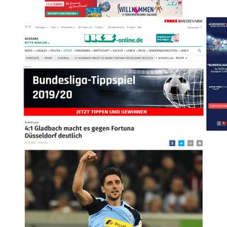 4-1 Gladbach macht es gegen Fortuna Düsseldorf deutlich - ikz-online.de -