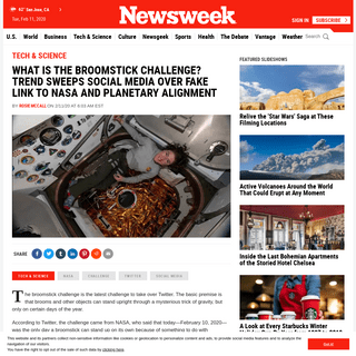 ArchiveBay.com - www.newsweek.com/broomstick-challenge-trend-sweeps-social-media-fake-link-nasa-planetary-alignment-1486667 - What Is the Broomstick Challenge- Trend Sweeps Social Media Over Fake Link to NASA and Planetary Alignment