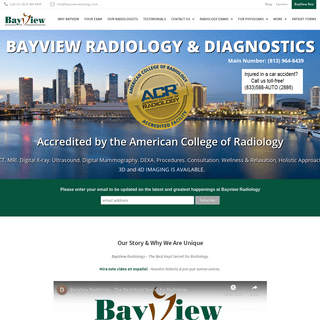MRI Tampa Diagnostic Imaging Center - Bayview Radiology