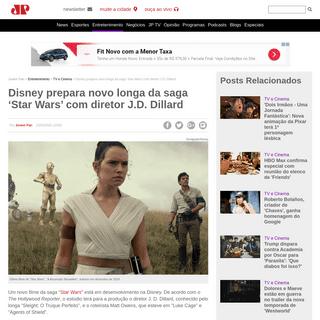 Disney prepara novo longa da saga 'Star Wars' com diretor J.D. Dillard - Jovem Pan