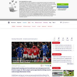 United wint op Stamford Bridge en verlengt zegeloze reeks Chelsea - NU - Het laatste nieuws het eerst op NU.nl
