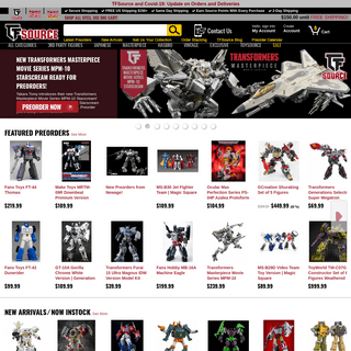 Collectible Transformers Toys and Action Figures - TFSource