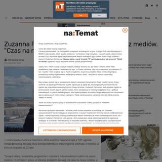Zuzanna Falzmann odchodzi z mediów. Była dziennikarką przez 22 lata - naTemat.pl