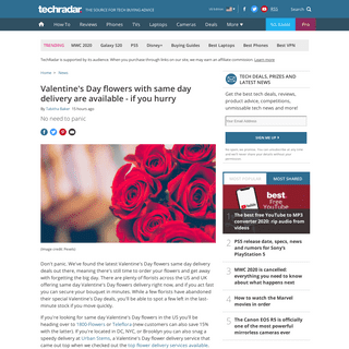 ArchiveBay.com - www.techradar.com/news/valentines-day-flowers-are-still-available-with-speedy-next-day-delivery - Valentine's Day flowers with same day delivery are available - if you hurry - TechRadar