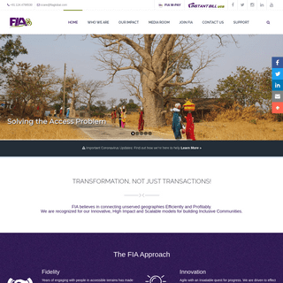 FIA Global - Financial Inclusion - Banking the Unbanked - Internation Remittance