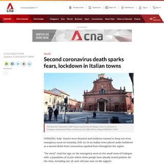 Second coronavirus death sparks fears, lockdown in Italian towns - CNA