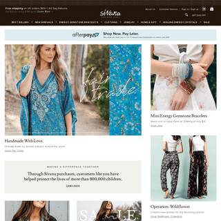 Sivana - Healing Gemstone Jewelry, Clothing, & Conscious Gifts