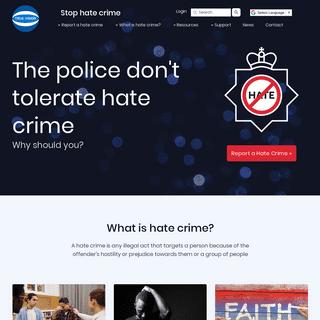Stop Homophobic, Transphobic, Racial, Religious & Disability Hate Crime - True Vision