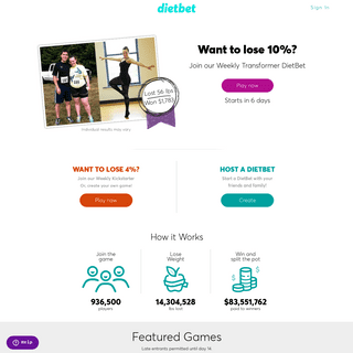 ArchiveBay.com - dietbet.com - DietBet - Set Up or Join a Weight Loss Challenge