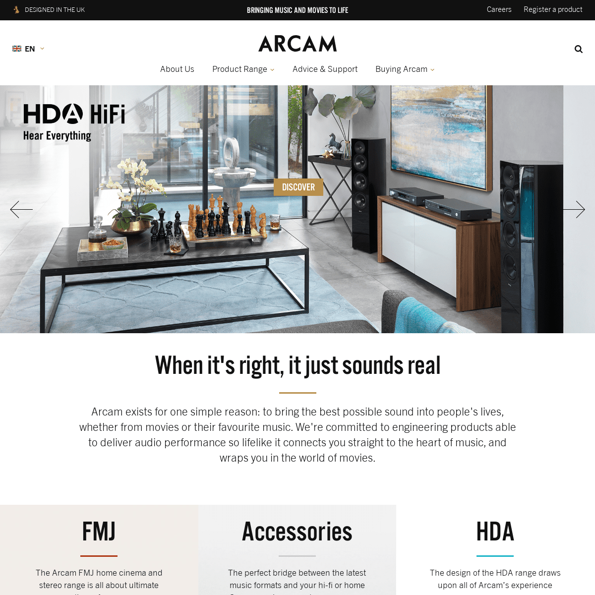 Arcam - bringing the best possible sound into people's lives