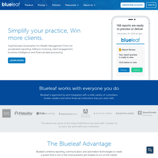 Blueleaf - More than reporting, Reporting Delivered