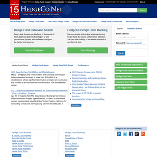 Hedge Fund Database - HedgeCo.Net the Leading Free Online Hedge Fund Database and source of News on Hedge Funds
