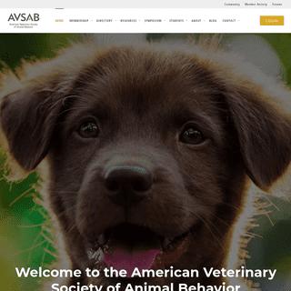 The American Veterinary Society of Animal Behavior - AVSAB