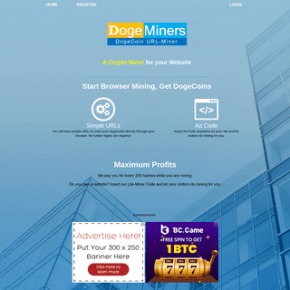 DogeMiners.com - Browser Miner