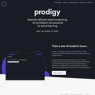 Prodigy · An annotation tool for AI, Machine Learning & NLP
