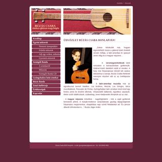 Búzás Csaba honlapja