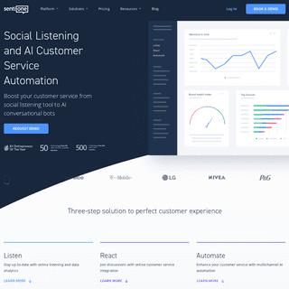 Conversational AI platform, social listening tool - SentiOne