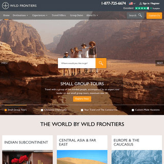 Adventure Tours and Holidays - Wild Frontiers Travel