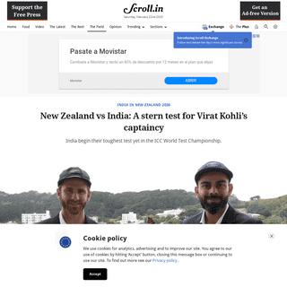 ArchiveBay.com - scroll.in/field/953605/new-zealand-vs-india-the-big-questions-facing-virat-kohli-ahead-of-the-first-test - New Zealand vs India- A stern test for Virat Kohli's captaincy