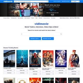 Vidimovie - Movie Trailers, Video Clips, Reviews, Interviews and More! - Vidimovie