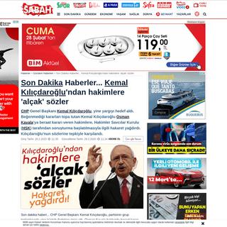 Son Dakika Haberler... Kemal Kılıçdaroğlu'ndan hakimlere 'alçak' sözler - Son Dakika Haberler