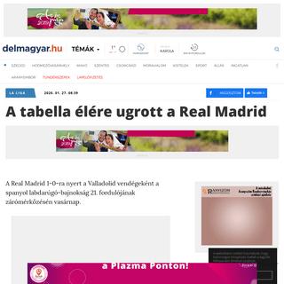 A tabella élére ugrott a Real Madrid - DÉLMAGYAR