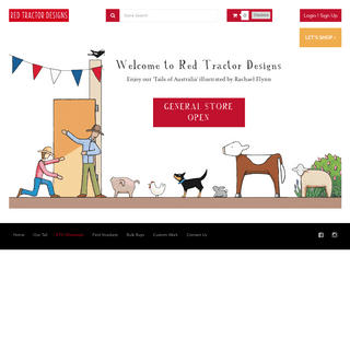red tractor designs