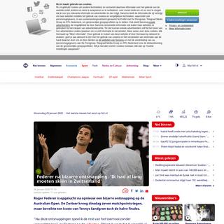 Federer na bizarre ontsnapping- 'Ik had al lang moeten skiën in Zwitserland' - NU - Het laatste nieuws het eerst op NU.nl