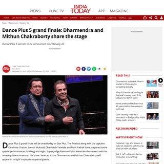 ArchiveBay.com - www.indiatoday.in/television/reality-tv/story/dance-plus-5-grand-finale-dharmendra-and-mithun-chakraborty-share-the-stage-1649020-2020-02-22 - Dance Plus 5 grand finale- Dharmendra and Mithun Chakraborty share the stage - Television News
