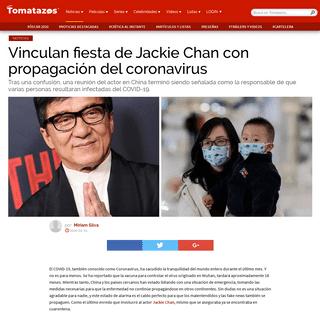 Vinculan fiesta de Jackie Chan con propagación del coronavirus - Tomatazos - Crítica de cine, televisión y estrenos en cartel