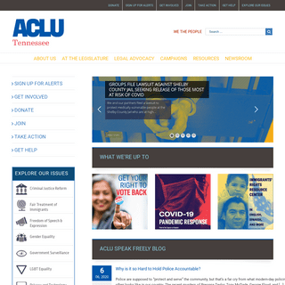 Because Freedom Can't Protect Itself - ACLU of Tennessee