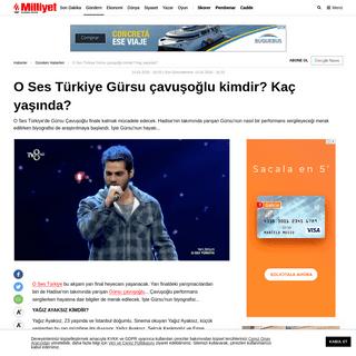O Ses Türkiye Gürsu çavuşoğlu kimdir- Kaç yaşında- - Son Dakika