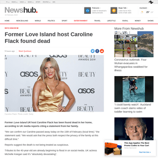 ArchiveBay.com - www.newshub.co.nz/home/entertainment/2020/02/former-love-island-host-caroline-flack-found-dead-uk-media-reports.html - Former Love Island host Caroline Flack found dead - Newshub