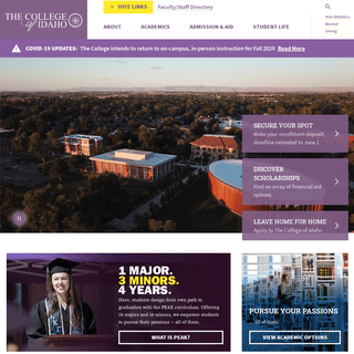 Home - The College of Idaho