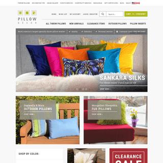 Pillows- Decorative Throw Pillows, Covers & Inserts - PillowDecor.com