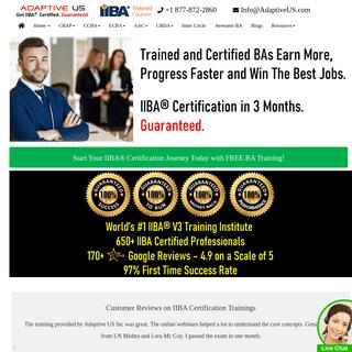 IIBA Certification Training - Online - Adaptive US