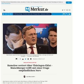 ArchiveBay.com - www.merkur.de/politik/maischberger-ard-bodo-ramelow-tv-thueringen-wahl-erfurt-afd-cdu-linke-ministerpraesident-zr-13537547.html - ARD-Maischberger- Ramelow wettert über Thüringen-Eklat -Moderatorin trifft Nerv - Politik