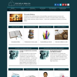 Escuela Biblica. El estudio de la Biblia con seriedad