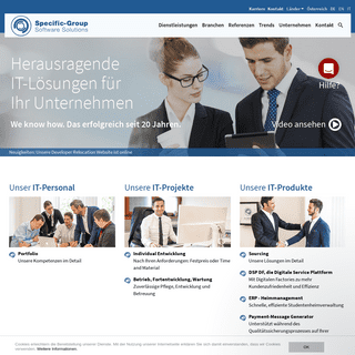 Specific-Group Austria- Software Outsourcing - individual Software Entwicklung