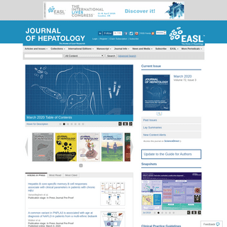 Home Page- Journal of Hepatology