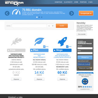 Freehosting, webhosting - neomezeně domén, multihosting- Endora.cz