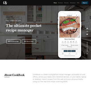 The CookBook App - Recipe Manager for iOS, Android and Online with OCR!