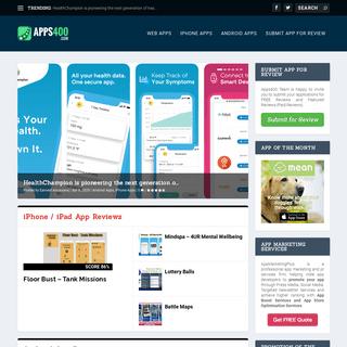 Apps400 - Web App Reviews - Facebook App Reviews - iPhone App Reviews - Android App Reviews