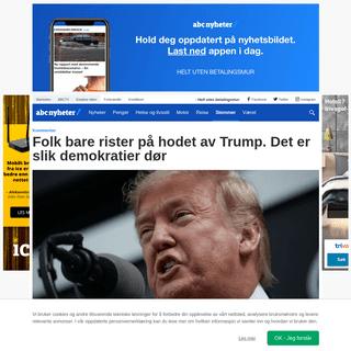 ArchiveBay.com - www.abcnyheter.no/stemmer/2020/02/17/195649864/folk-bare-rister-pa-hodet-av-trump-det-er-slik-demokratier-dor - Folk bare rister på hodet av Trump. Det er slik demokratier dør - ABC Nyheter