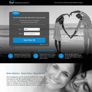 ProfessionalMatch.com - The #1 Relationship Site for Online Dating and Professional Matchmaking Services